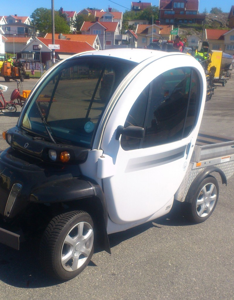 Electric car for local island transport