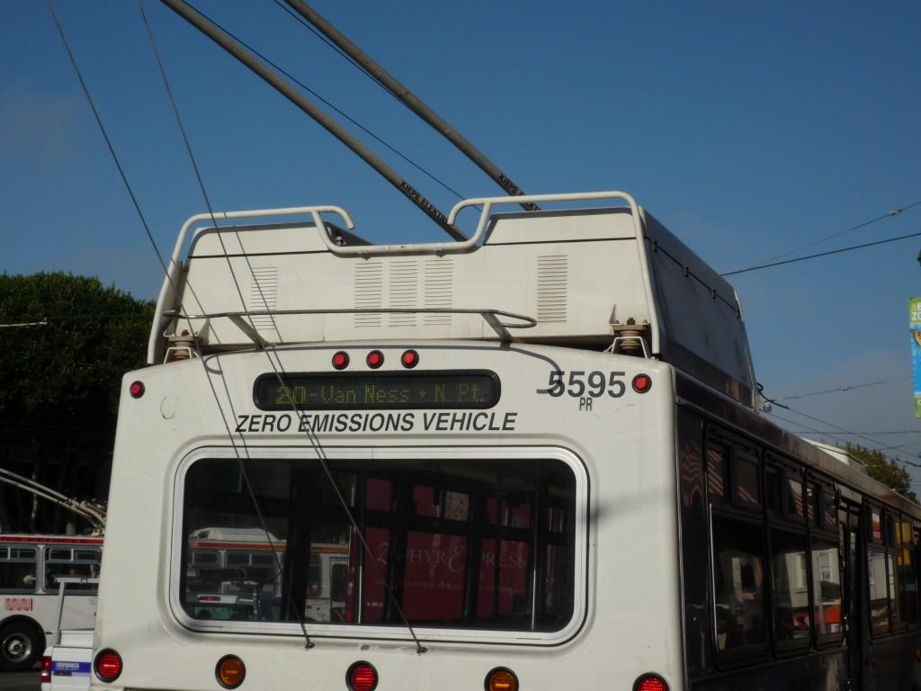Nollemissionsfordon i San Fransisco (emissioner på annan plats)