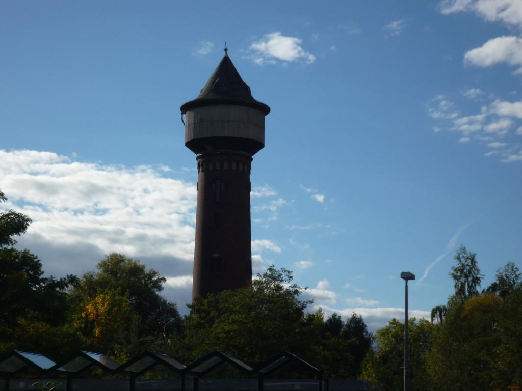 Vattentorn för ånglokens vattenförsörjning