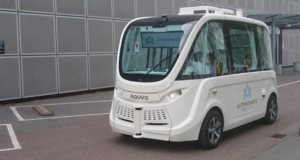 Autonomous taxi at ITS Copenhagen, view of the future